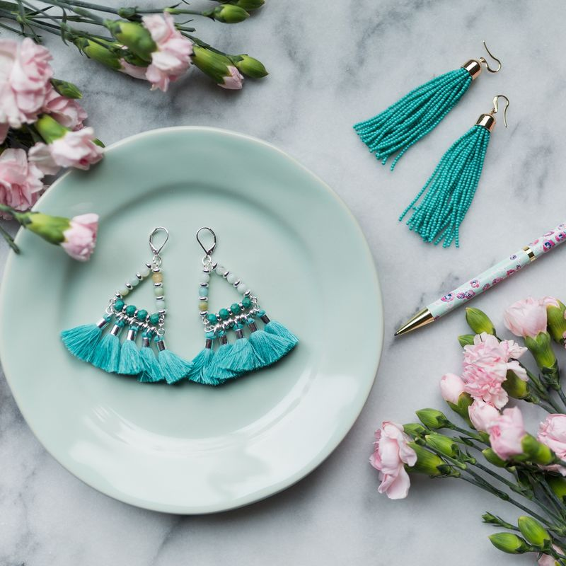 User Generated Content for WILDE Sayulita Fringe Earrings in Gold and Turquoise