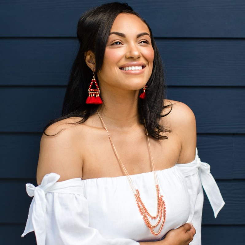 User Generated Content for WILDE Ibiza Earrings in Gold and Hot Coral