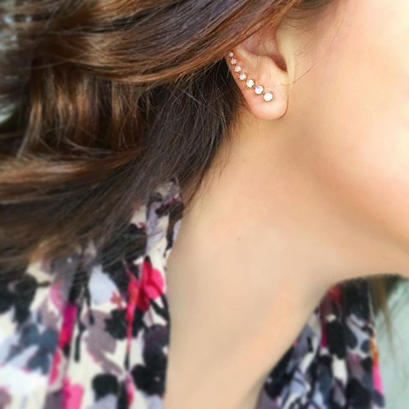 User Generated Content for Sophie Harper Crystal Ear Climbers in Pink