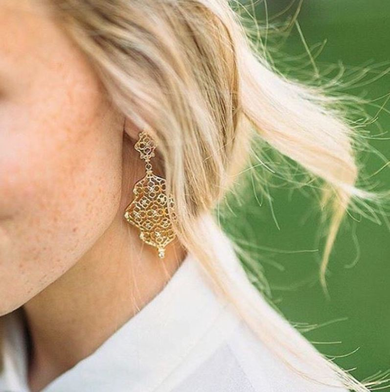 User Generated Content for Kendra Scott Renee Earrings in Gold with Pavé