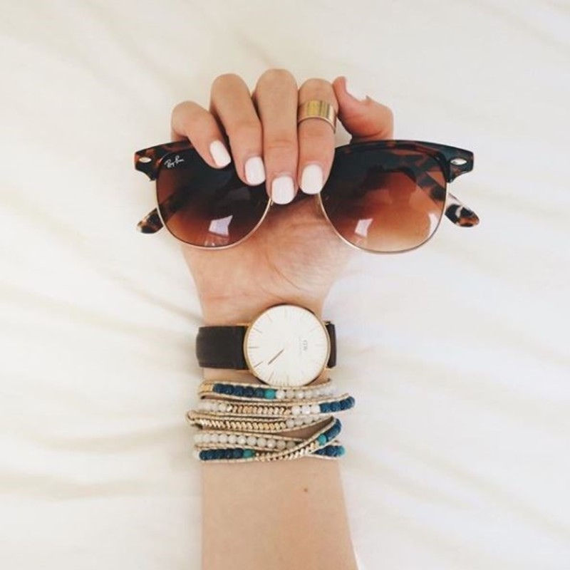 User Generated Content for Nakamol Blue, Gold and Pearl Wrap Bracelet