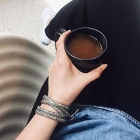 User Generated Content for Nakamol Gray & Gold Beaded Wrap Bracelet