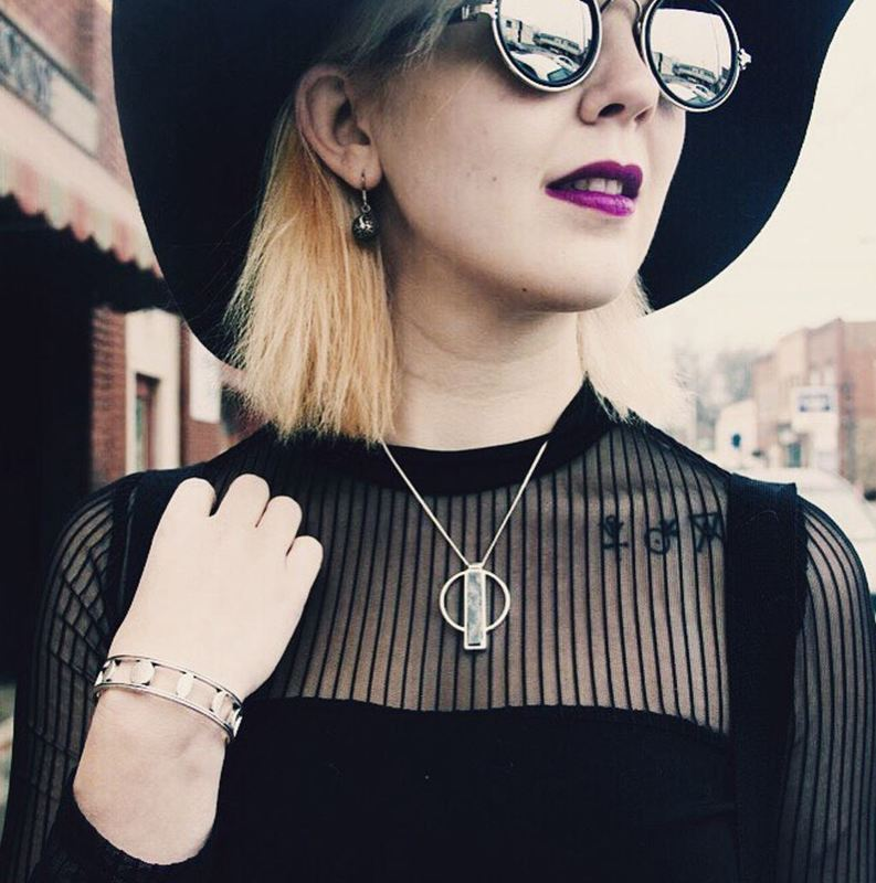 User Generated Content for Jenny Bird Pollux Pendant in Silver and Black