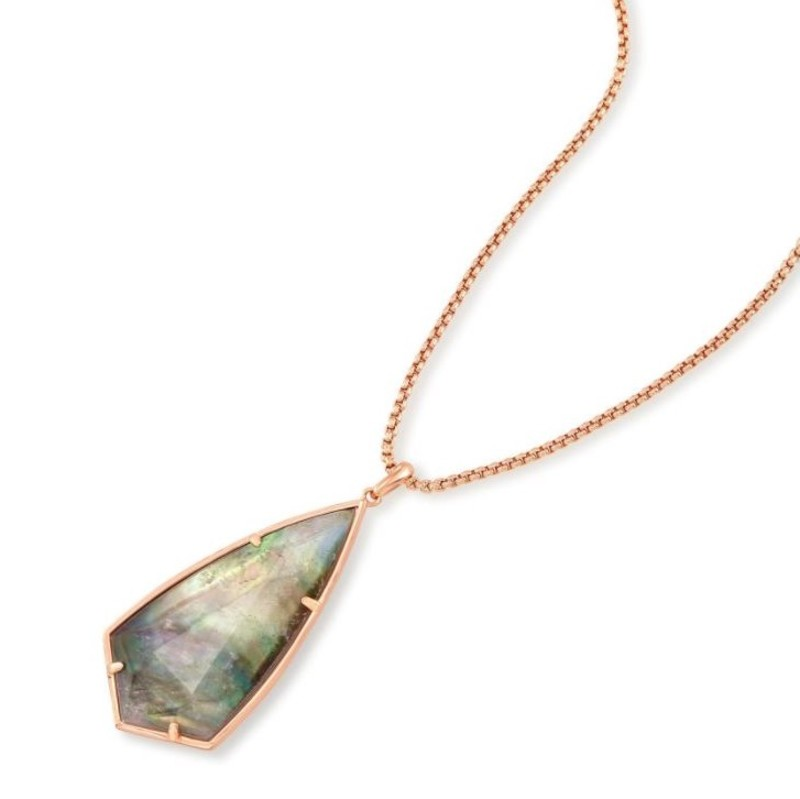 User Generated Content for Kendra Scott Carole Necklace in Rose Gold and Black Crystal