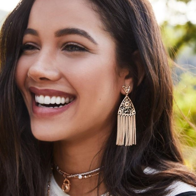 User Generated Content for Kendra Scott Ana Earrings in Gold