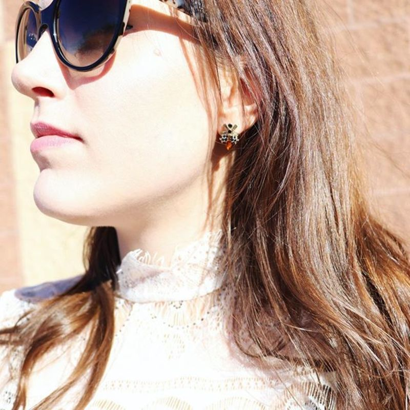 User Generated Content for Perry Street Beatrice Stone Studs