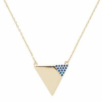 User Generated Content for Sophie Harper Triangle Necklace with Cobalt Pavé