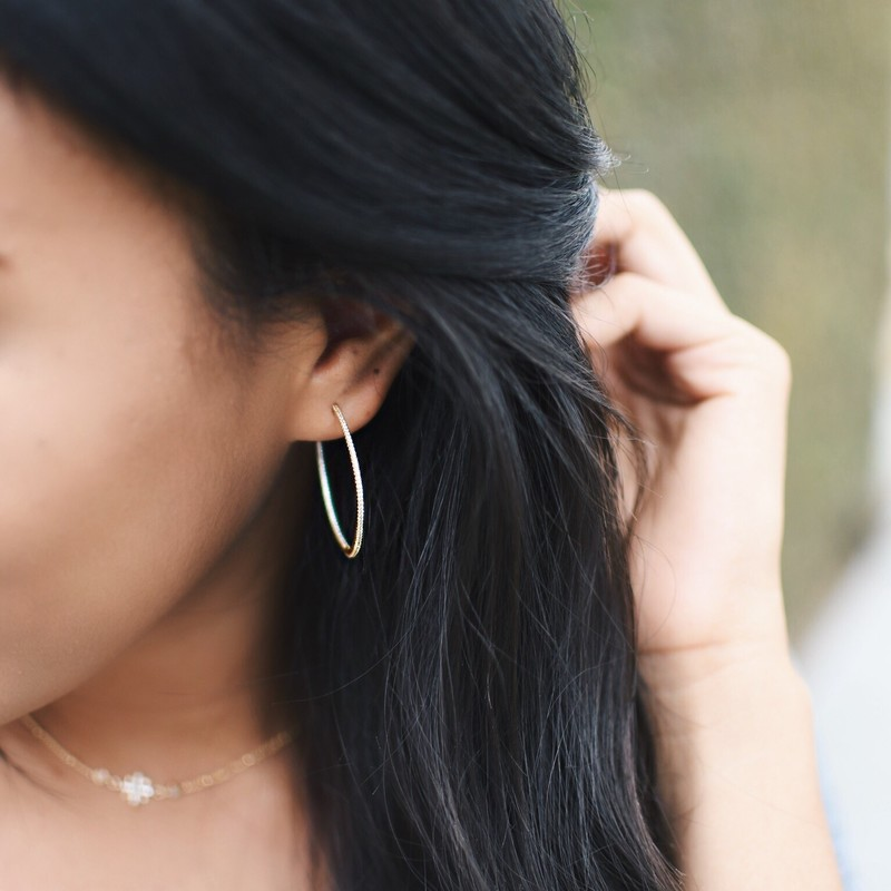 User Generated Content for Rudiment Pierce Hoops in Gold