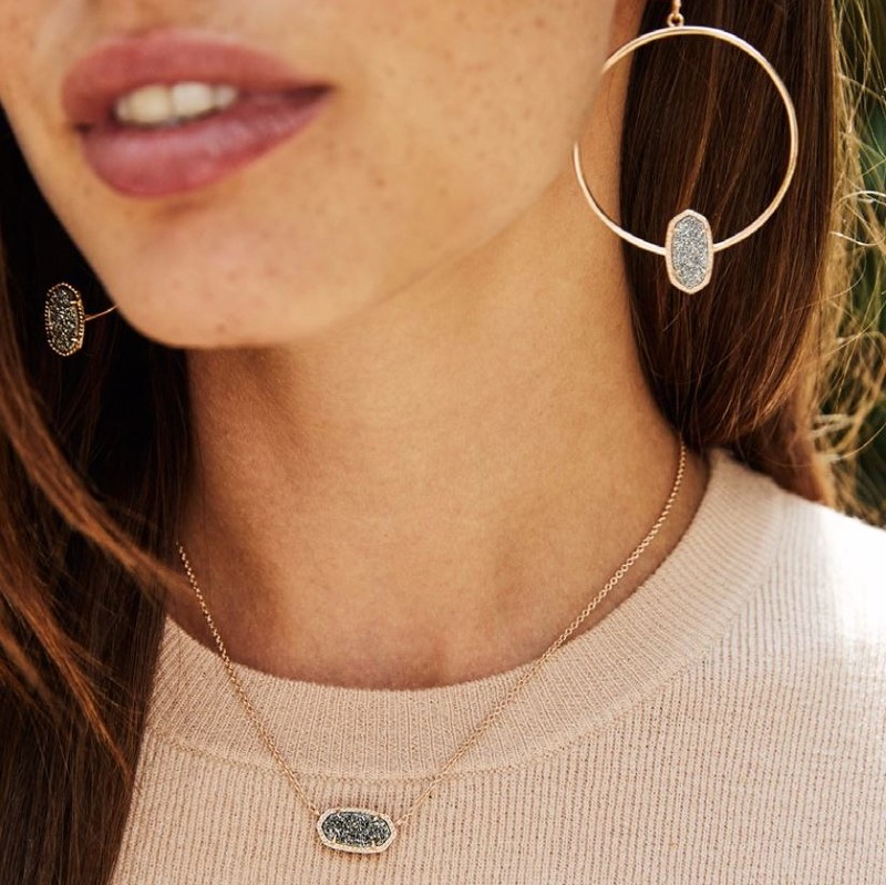 User Generated Content for Kendra Scott Elisa Necklace in Rose Gold and Platinum Druzy