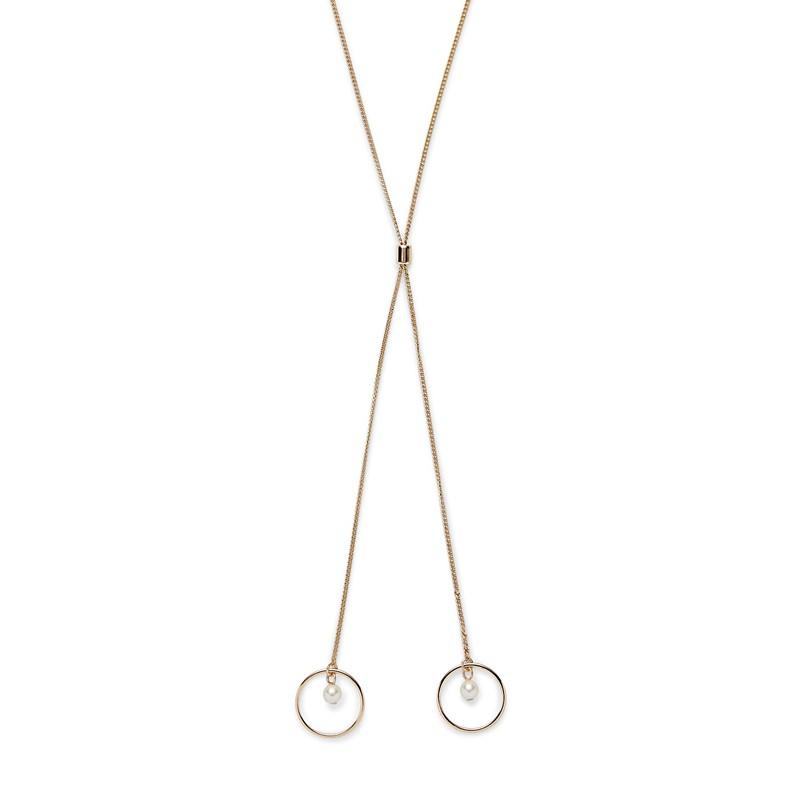 Sophie Harper Open Circle Pearl Drop Necklace