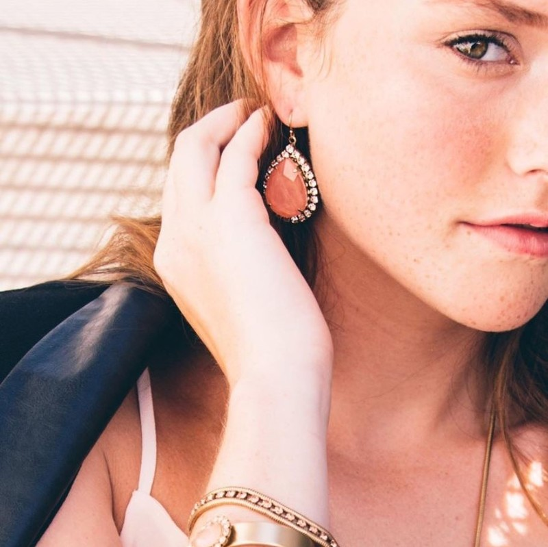 User Generated Content for Loren Hope Krista Large Pear Drops in Midnight Navy