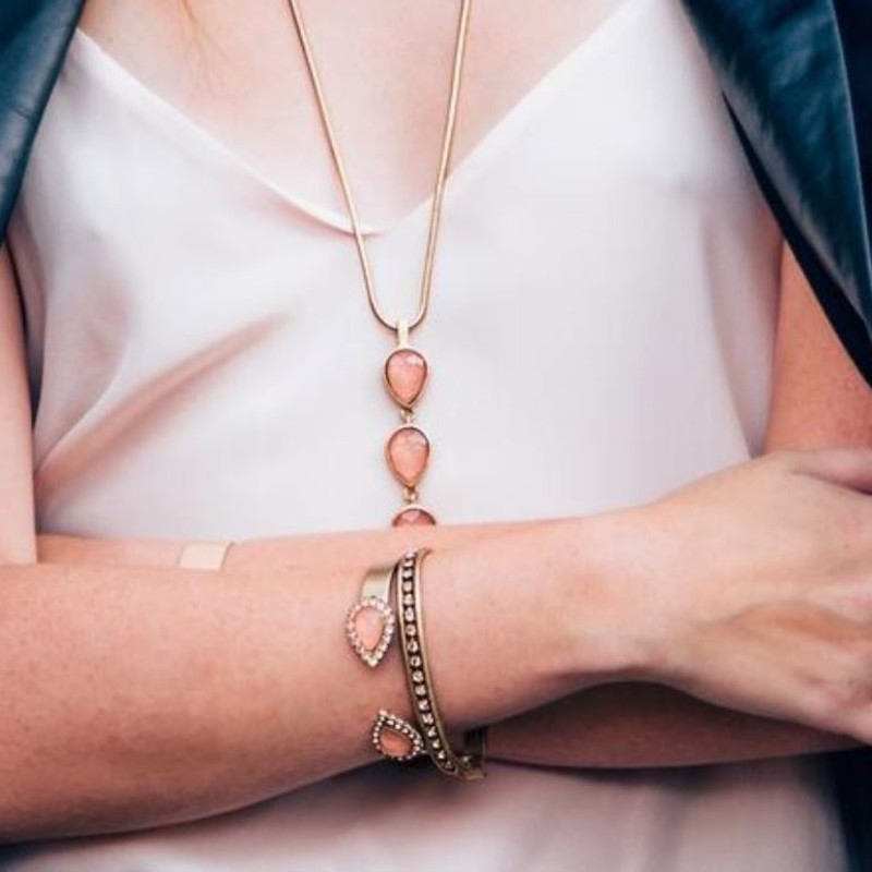 User Generated Content for Loren Hope Small Sara Cuff in Apricot