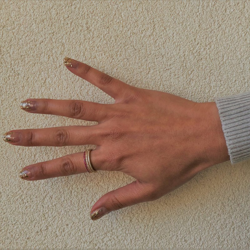 User Generated Content for Sophie Harper Pink Ombré Ring Stack in Gold