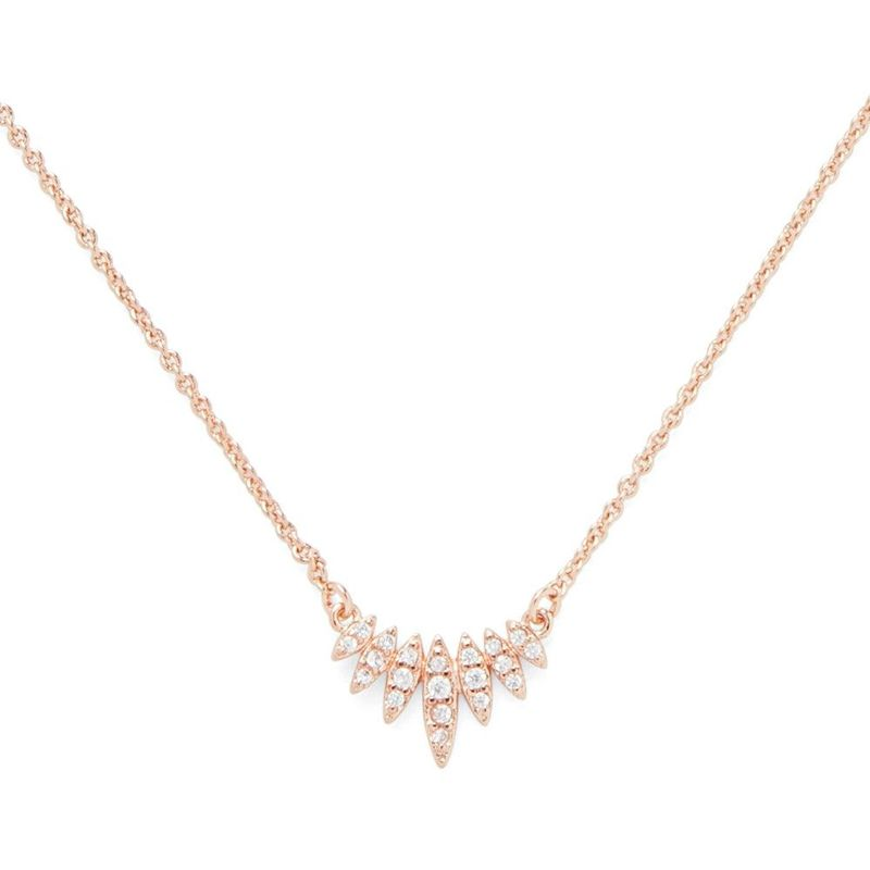 Sophie Harper Pavé Marquise Pendant in Rose Gold