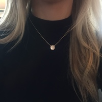 User Generated Content for Sophie Harper Pavé Disc Necklace in Rose Gold