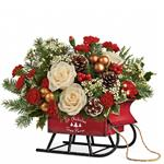 7137 - Joyful Sleigh Bouquet Santa Maria CA delivery.