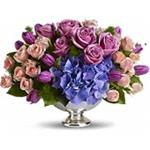 6591 - Purple Elegance Centerpiece Arroyo Grande, CA delivery.