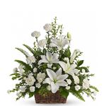6736 - Peaceful White Lilies Basket Arroyo Grande, CA delivery.