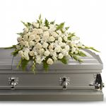 6734 - Silken Serenity Casket Spray US and Canada delivery.