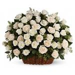 6747 - Bountiful Rose Basket Arroyo Grande, CA delivery.