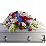 6752 - Distinguished Service Casket Spray US and Canada delivery.