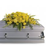 6829 - Graceful Grandeur Casket Spray Santa Barbara, CA delivery.