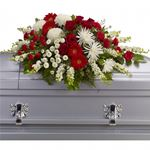 6928 - Strength and Wisdom Casket Spray US and Canada delivery.