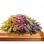 7293 - Garden of Sweet Memories Casket Spray US and Canada delivery.