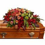 7294 - A Fond Farewell Casket Spray Santa Barbara, CA delivery.