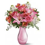 6393 - Pink Reflections Bouquet with Roses Santa Maria CA delivery.