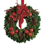 6441 - Pomegranate Wreath San Luis Obispo, CA delivery.