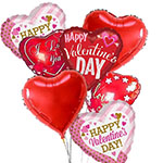 991323 - Valentines Day Balloon Bouquet Santa Maria, CA delivery.