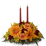 3251 - Bright Autumn Centerpiece Santa Maria CA delivery.