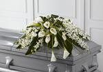 3886 - Angel Wings Casket Spray US and Canada delivery.