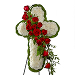 3888 - Floral Cross Easel US and Canada delivery.