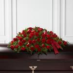 3889 - Dearly Departed Casket Spray Santa Barbara, CA delivery.