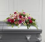 3893 - Splendid Grace Casket Spray US and Canada delivery.
