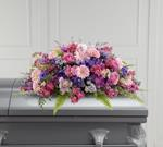3957 - Glorious Garden Casket Spray US and Canada delivery.