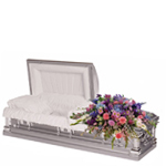 2122 - Feminine Reflections Casket Spray US and Canada delivery.