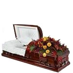 2123 - Autumn Passing Casket Spray US and Canada delivery.