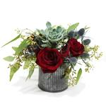 2476 - Miki Succulent & Rose Bouquet Santa Barbara, CA delivery.