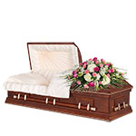 2554 - Pastel Reflections Casket Spray Santa Maria CA delivery.