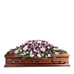 2629 - Lavender Comfort Casket Spray Lompoc, CA delivery.