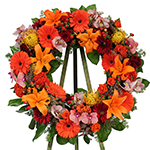 2682 - Vibrant Wreath Tribute San Luis Obispo, CA delivery.