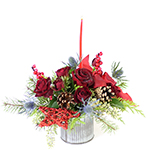 2687 - Miki Christmas Bouquet Santa Maria CA delivery.