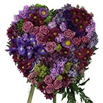 2716 - Amethyst Heart Tribute Lompoc, CA delivery.