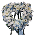 2750 - Azur Heart Wreath San Luis Obispo, CA delivery.
