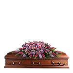 2754 - Lavender Reflections Casket Spray US and Canada delivery.