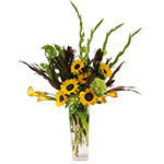 2776 - Lorelai Sunflower Vase US and Canada delivery.