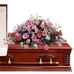 2803 - Claret Casket Spray Santa Barbara, CA delivery.